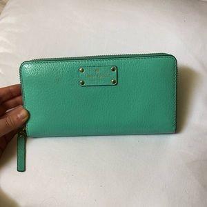 Kate spade turquoise wallet
